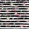 Pinstripe Bouquet Black Polka Dots Photography Backdrop
