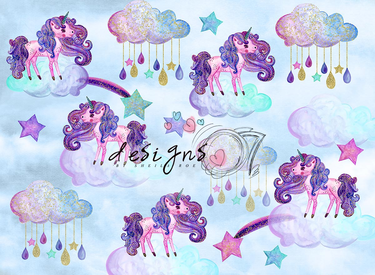 Unicorn Clouds Photography Backdrop