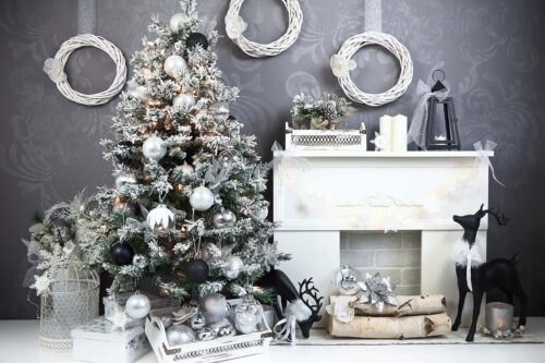 Charcoal & Black Christmas Backdrop