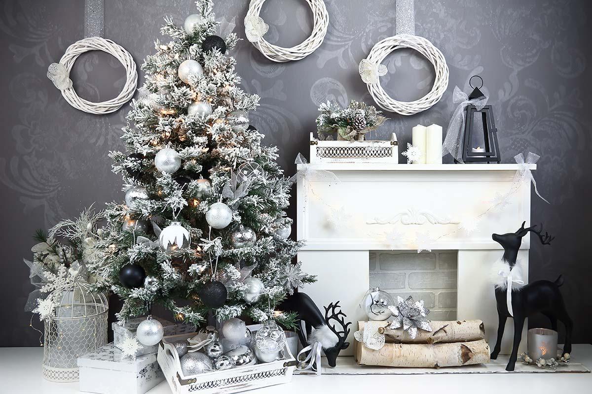 Charcoal & Black Christmas Backdrop