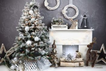 Charcoal & Silver Christmas Backdrop