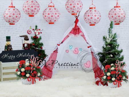 Christmas Holiday Teepee Backdrop