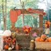 Pumpkin Stand Fall Backdrop