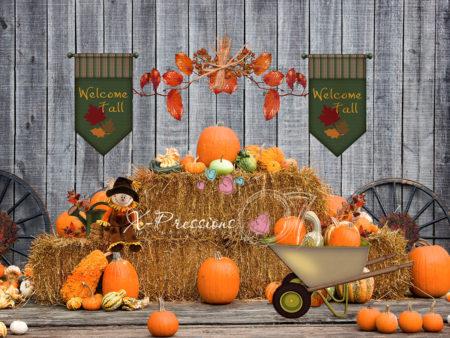 Welcome Fall Pumpkin Backdrop