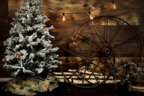 Rustic Christmas Backdrop
