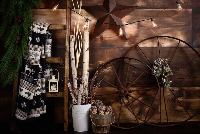 Rustic Cozy Christmas Backdrop