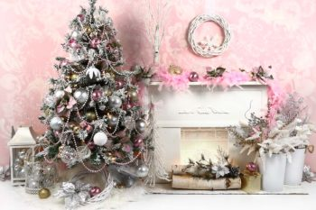 Christmas Pretty in Pink Backdrop