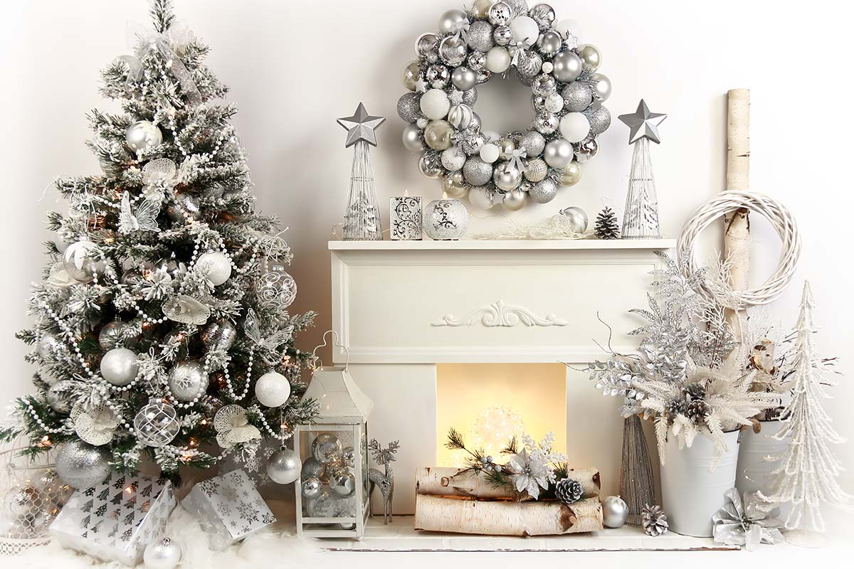 Rayelle Silver Christmas Backdrops Canada