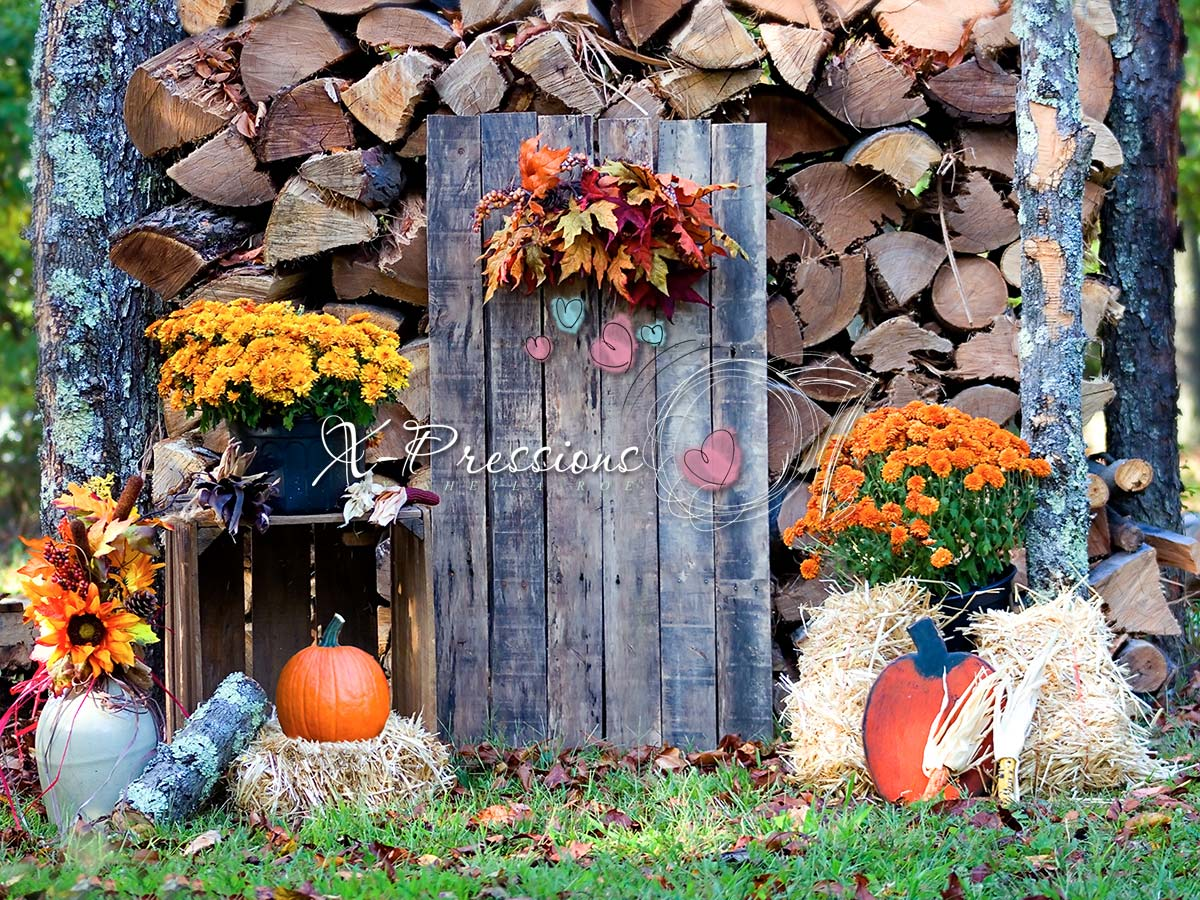 Rustic Fall Door Backdrop