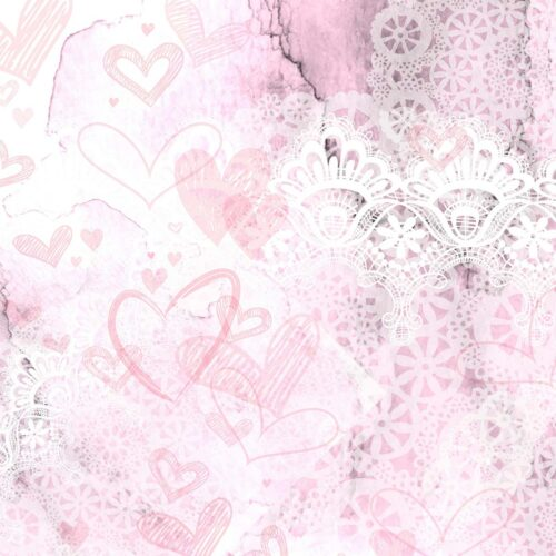 Lace Valentine's Day Backdrop