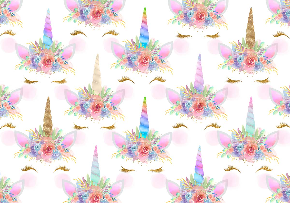 Glittler Unicorn Crown Backdrop