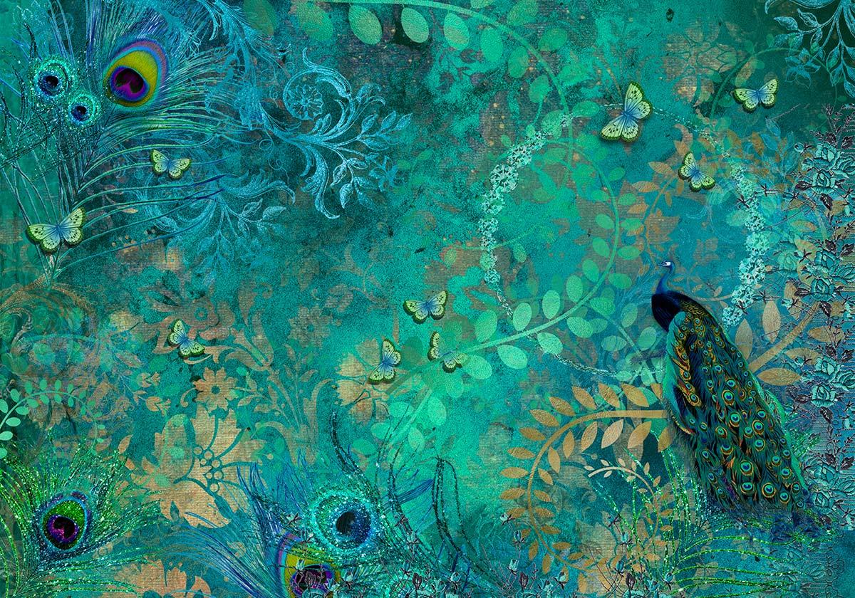 Peacock Inspired Jewel Backdrop