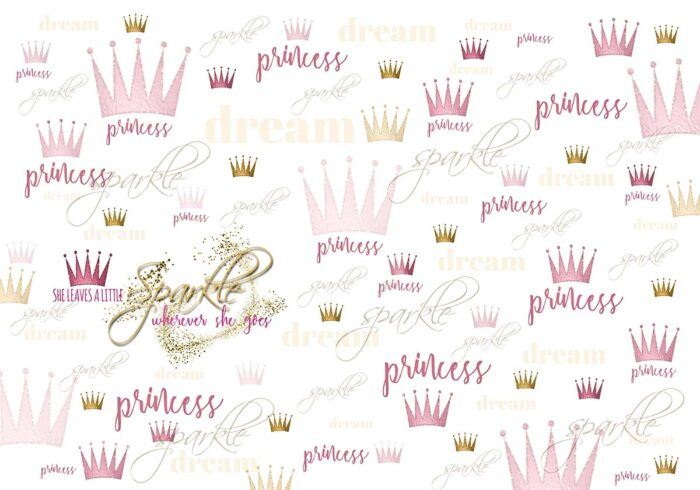 Sparkle Princess Pink Backdrop