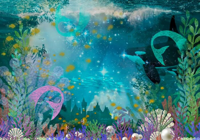 Under the Sea Mermaid Backdrop