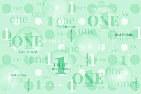 First Birthday Backdrop Mint