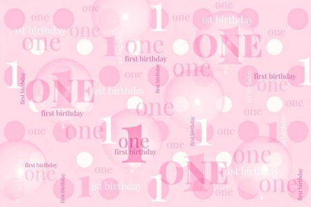First Birthday Backdrop Pink