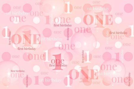 First Birthday Backdrop Pink & Peach