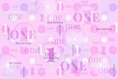 First Birthday Backdrop Pink & Purple