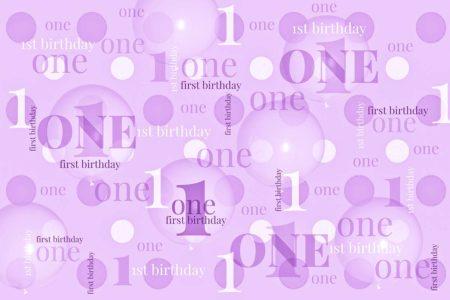 First Birthday Backdrop Purple