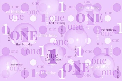 First Birthday Backdrop Purple