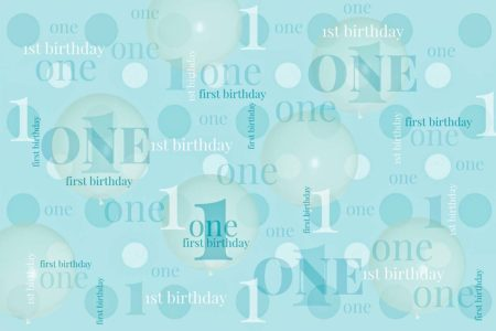 First Birthday Backdrop Teal