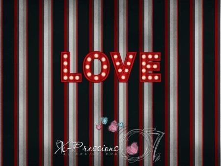 Striped Love Valentine's Day Backdrop