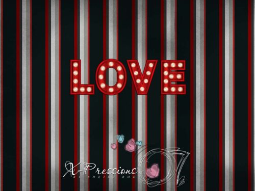 Striped Love Valentine's Day Backdrop