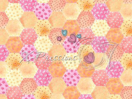 Pink & Yellow Patchwork Backdrop
