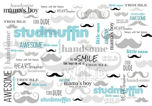 Stud Muffin Little Boys Backdrop