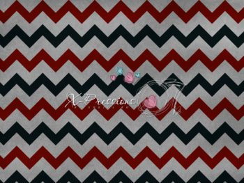 Grey, Black & Red Chevron Backdrop