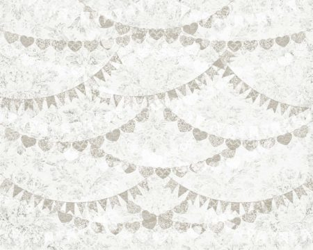 Vintage Grey Lace Bunting Backdrop