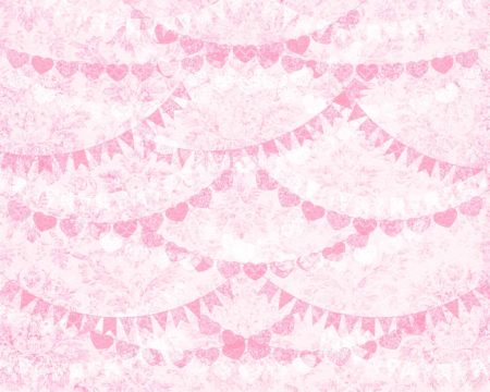 Vintage Pink Lace Bunting Backdrop