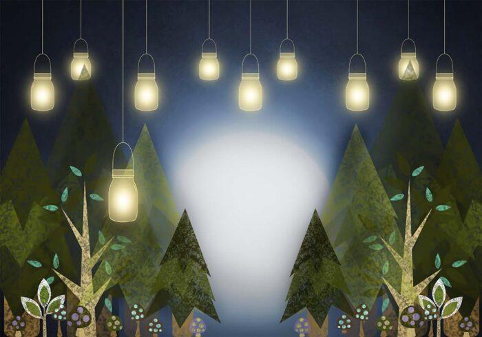 Woodland Lights Backdrop