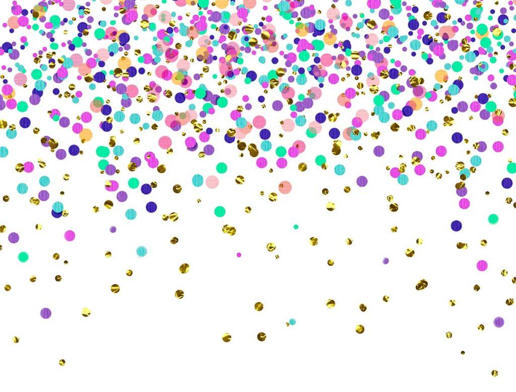 Birthday Confetti 4 Options Backdrops Canada