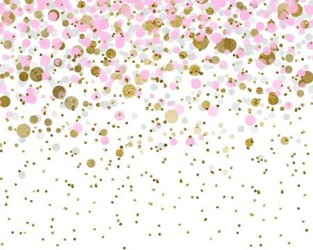 Pink & Gold Birthday Confetti Backdrop