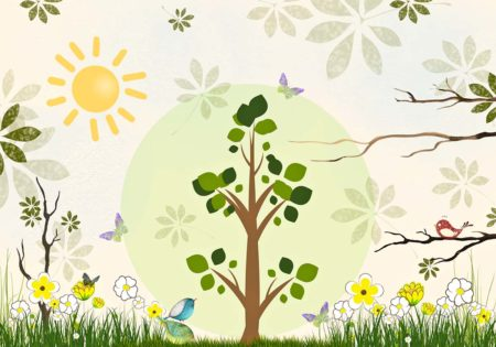 Blooming Spring Nature Backdrop