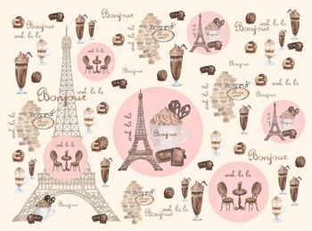 Bonjour Paris Cafe inspired backdrop