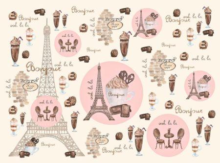 Bonjour Paris Cafe inspired backdrop