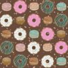 Donut Birthday Backdrop in Brown