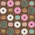 Donut Birthday Backdrop in Brown