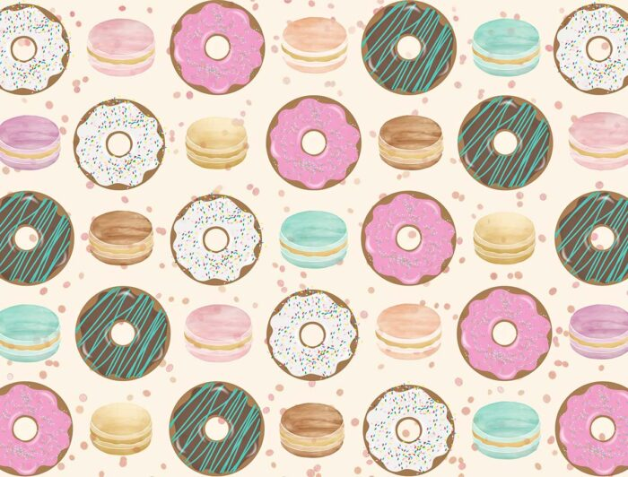 Donut Birthday Backdrop