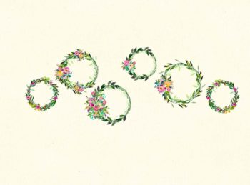 Floral Wreaths Backdrop