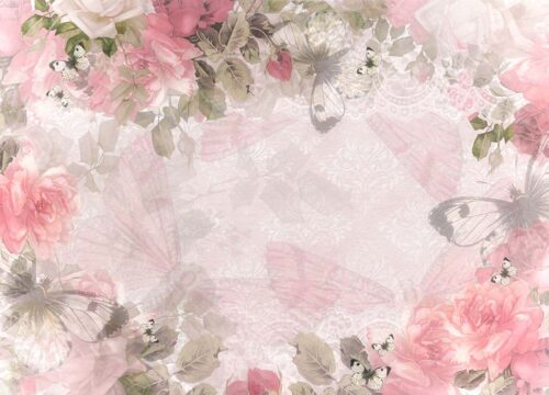 Kate Floral Pink Backdrop