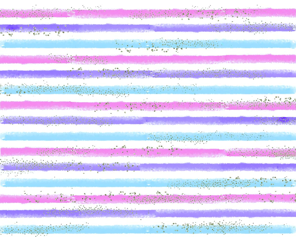 Silver Glitter Pastel Stripes Backdrop