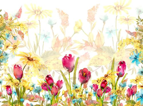 Floral Spring Tulip Backdrop