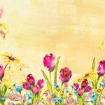 Golden Orange Spring Tulip Backdrop