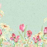 Mint Green Spring Tulip Backdrop
