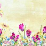 Soft Beige Spring Tulip Backdrop
