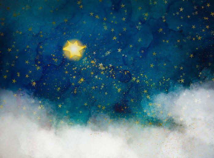 Star Bright Yellow Backdrop