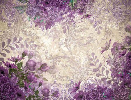 Vivienne Purple Floral Backdrop